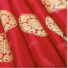 Supply 100% Polyester Red Jacquard Flame Retardant Curtain Fabric