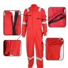 Cotton fireproof protective coverall for working outdoors
