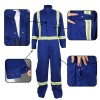 Anti-fire long sleeve coveralls with reflective tape