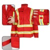 Anti-fire jacket for men with reflective strip