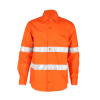 Optional 100% cotton safety factory worker shirt with reflective strips