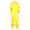 Men's 100% cotton flame retardant coverall with reflective strip is made of flame-retardant cotton